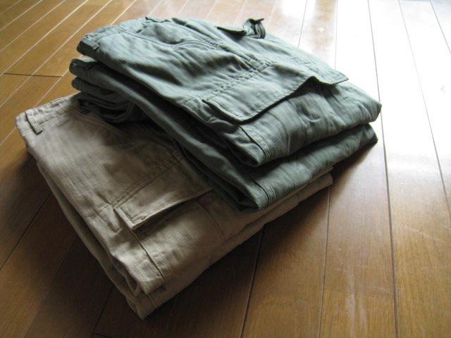 HERRINGBONE 6P CARGO PANTS